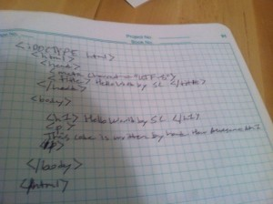 Html by Hand